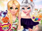 Elsa And Rapunzel Pretty In Floral
