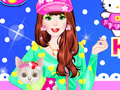 Barbara With Kitty Dressup