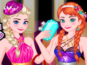 Elsa and Anna Sisters Night Out
