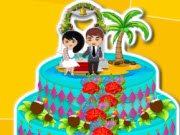 Hawaiian Summer Wedding Cake