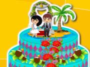 Hawaiian Summer Wedding Cake