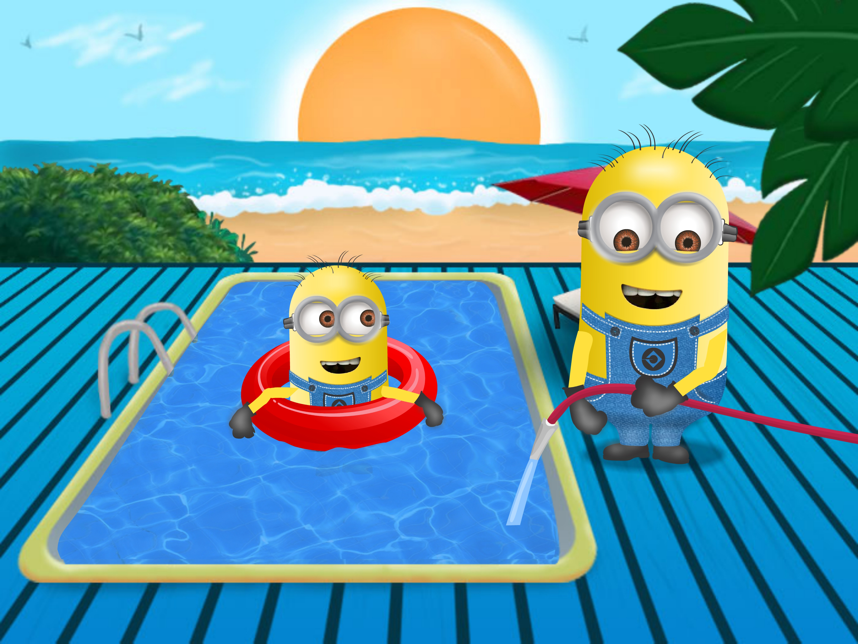 Image gallery swimming minions Where can i buy a swimming pool near me