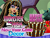 Monster High New Year Cake Decor