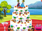 Princess Summer Wedding Cake