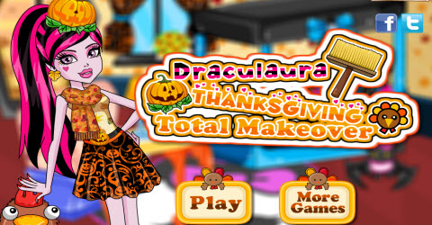 Draculaura Thanksgiving Total Makeover