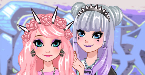 Frozen Sisters Go Pastel Goth
