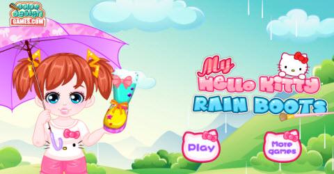 My Hello Kitty Rain Boots